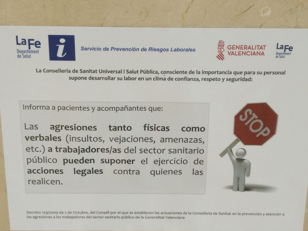 Cartel advertencia repercusiones legales por insultos